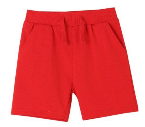 comprar short básico en color rojo para niño de newness